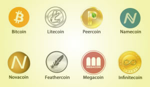 various cryptocoins
